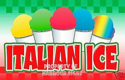 Italian Ice Concession Decal 14 Restaurant Food Truck Cart Stand Vinyl Sticker