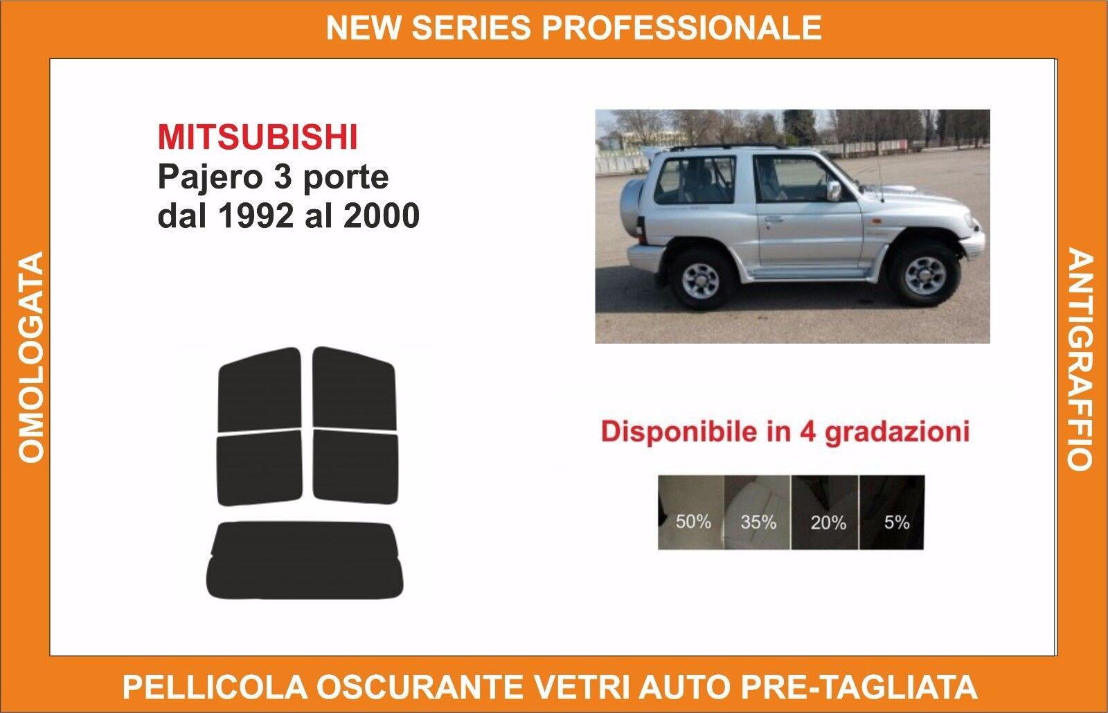 pellicola oscurante vetri pre tagliata mitsubishi pajero 3p dal 92-2000 kit post