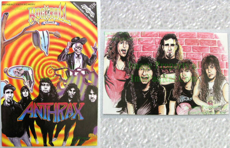 ANTHRAX ☆ Rock N Roll Comics #24 ☆ 1st Print Archive Copy ☆ FAITH NO MORE Comic