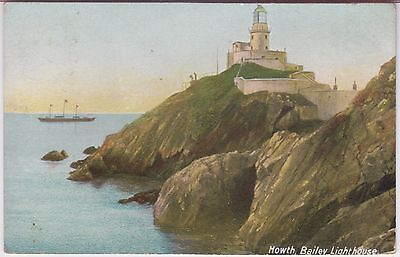 Howth Bailey Lighthouse Vintage Postcard 1908