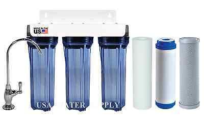 3 STAGE UNDER SINK DRINKING WATER FILTER SYSTEM | SEDIMENT/ 2 CARBON