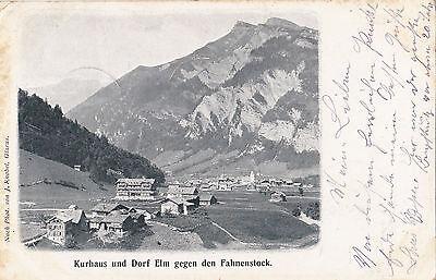 AK-Kurhaus und Dorf Elm gegen den Fahnenstock-1902