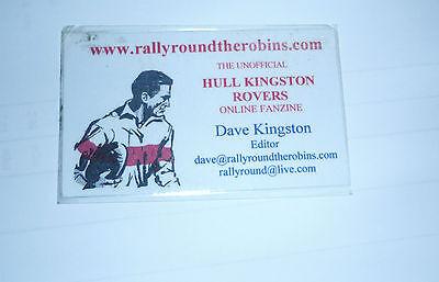 HULL K R ONLINE FANZINE EDITOR LAMINATED CARD (DAVE KINGSTON)