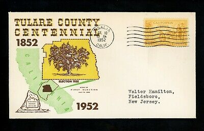 US Postal History States Related Tulare County Centennial 1952 Visalia CA (Visalia Ca Us)