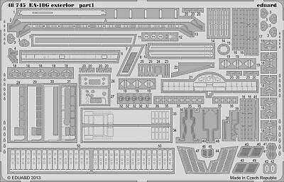 Eduard Accessories 48745 - 1:48 Ea-18G Exterior For Italeri - Ätzsatz - Neu