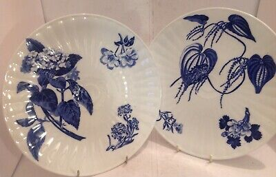 STYLISH PAIR OF WEDGWOOD PORCELAIN PLATES DECORATED IN THE AESTHETIC TASTE