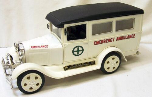 Jim Beam Decanter Auto White Model A Ford ambulance