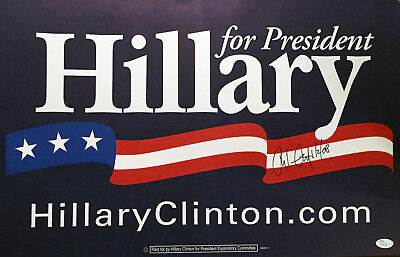 Chelsea Clinton SIGNED JSA COA AUTOGRAPHED 2008 POSTER / Hillary & Bill daughter
