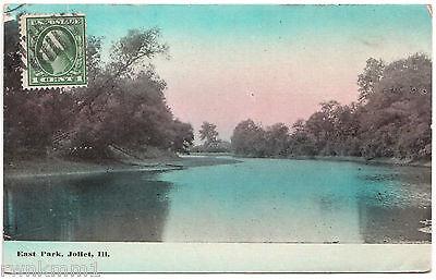 AK Ansichtskarte Post Card East Park Joliet Ill. - gelaufen 1914