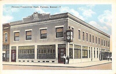 Parsons Kansas~Commercial Bank & Clock~Atkinson Lawyer~Trike Kid on -