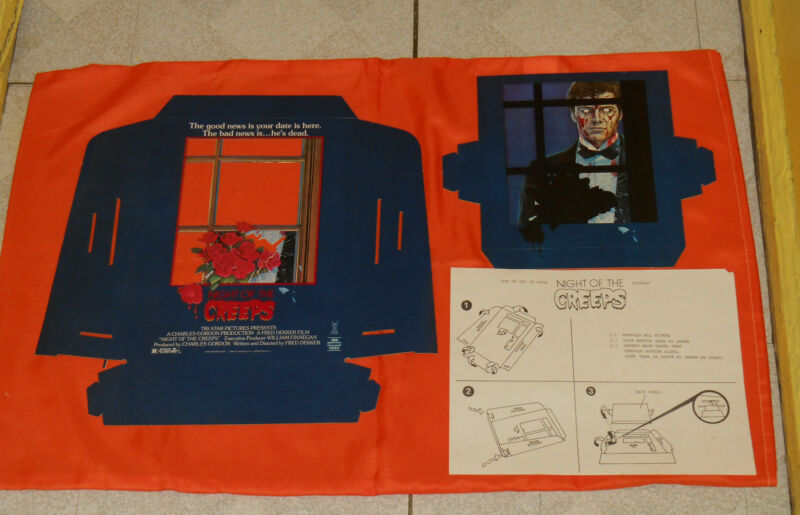 vintage original NIGHT OF THE CREEPS video store counter display