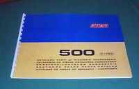Manuale Catalogo Parti Di Ricambio Carrozzeria Fiat 500 R 1972 - 75 -  - ebay.it