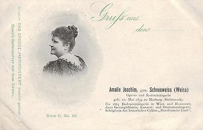 Amalie Joachim Scheeweiss, Opernsängerin aus Marburg / Steiermark,  um 1900/05