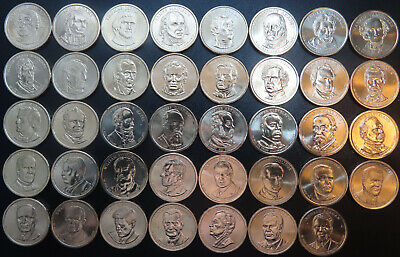 Complete Presidential Dollar 39 BU Coin Set Loose Roll One Each 2007 - 2016