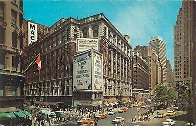 NEW YORK CITY HERALD SQUARE MACYS DEPARTMENT STORE VINTAGE  POSTCARD (Macys Store New York)