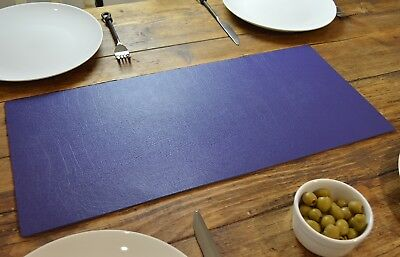 Set of 2 ULTRAVIOLET Bonded Leather TABLE RUNNERS MATS Centerpiece MADE IN UK