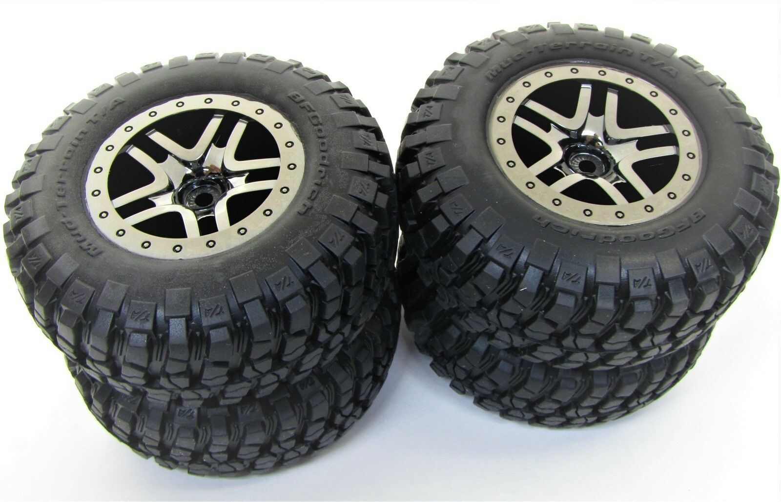 Soft-Compound 1//16 Rally Optional Traxxas TRA7372R Assembled Tires /& Wheels 2