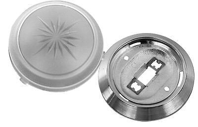 Replacement Dome Light Set - Lens & Base - Camaro, Nova, Impala Chevelle Dome Light Lens