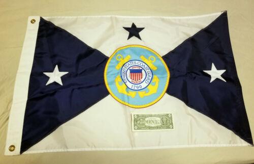 USCG NOS DLA SURPLUS 3 Star Admiral Vice Commandant of Coast Guard FLAG 22X32