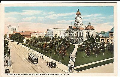 1920's Court House Square &  Fourth Avenue in Huntington, West Virginia PC