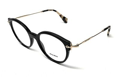 NEW MIU MIU VMU 04P 1AB-1O1 BLACK WOMEN'S AUTHENTIC EYEGLASSES FRAME (Miu Miu Eye Glasses)