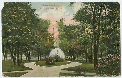University Park Indianapolis Indiana Vintage View Postcard Posted 1908