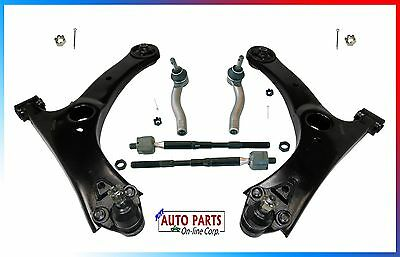 CONTROL ARM KIT WITH TIE RODS BALL JOINTS FITS TOYOTA COROLLA 03 08 ALL TRIMS
