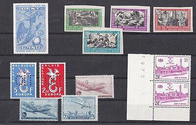 Belgique. Lot de bons timbres divers en neufs sans charnière XX et Très beaux.