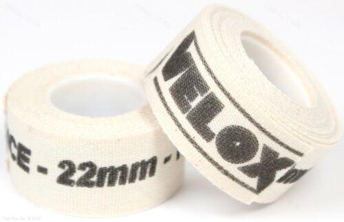 2-Rolls Velox 22mm Wide Cloth Cotton Adhesive Road/MTB Bike Rim Strip Wheel Tape
