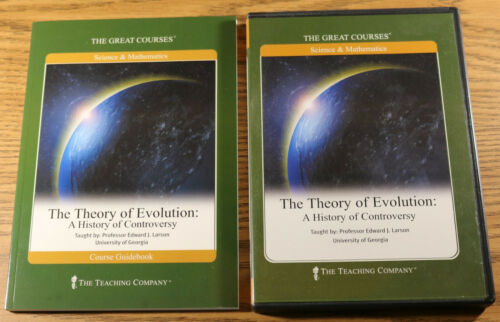 Used Great Courses THEORY OF EVOLUTION 6 Audio CDs with Book 12 Lectures