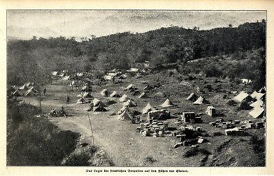 Balkankrieg Das Lager der feindlichen Vorposten auf den Höhen vor Skutari c.1912