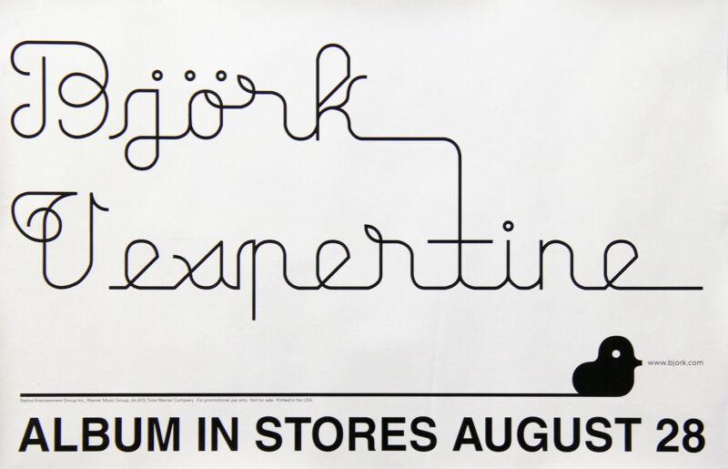 Bjork 2001 Vespertine Original Promo Poster