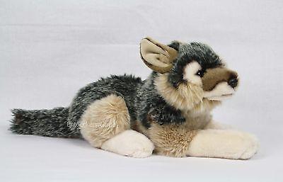 Stofftier Wolf liegend, Kuscheltier, Plüschtier, Plüsch (Länge ca. 40cm)