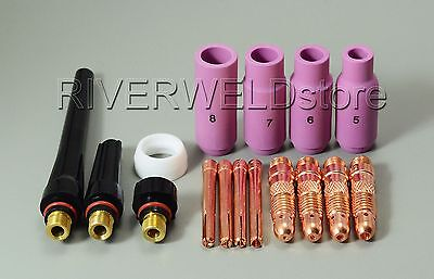 Tig Kit Wp Sr 17 18 26 Series Tig Welding Torch Consumables Accessories 16pk