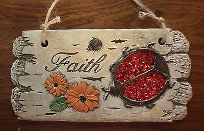 FAITH - BEETLE HANGING WALL PLAQUE - NEW