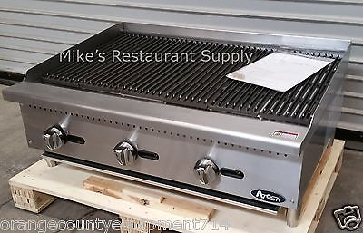 New 36 Lava Rock Char Broiler Grill Atosa Atcb-36 2544 Commercial Steak Burger