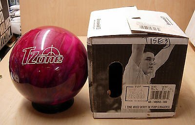 = 15# 0oz  Polyester Bowling Ball Brunswick T ZONE MIXED BERRY purple/magenta