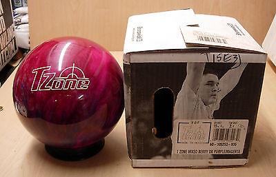 = 15 0oz Polyester Bowling Ball Brunswick T Zone Mixed Berry Purple/magenta
