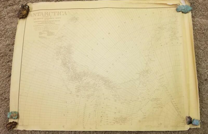 VERY RARE Vintage Antarctica Map Set AGS 1961 Era 4 Sheet 4x3 Feet  L@@K
