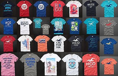 NWT Hollister By Abercrombie Fitch Graphic Tee t Shirt Muscle Fit Men's