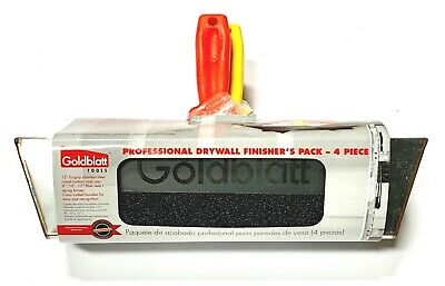 Goldblatt Drywall Finishers Kit 8 10 12 Taping Knife Stainless Steel Mud Pan
