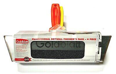 Goldblatt Drywall Finishers Kit 8 10 12 Taping Knife Stainless Steel Mud Pan