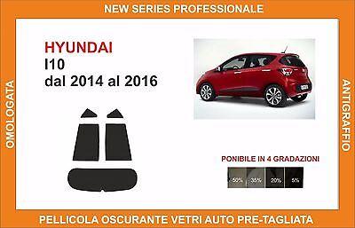 pellicola oscurante vetri pre-tagliata Hyundai I10 dal 2014-2016 post