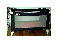 little tikes travel cot as new