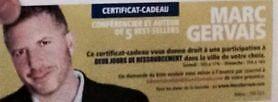 AUBAINE: 1 billet d'adulte pour 2 jours avec Marc Gervais