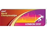 4 Tickets (2 adults, 2 children) for London 2017 on Friday, 11th August at London Stadium