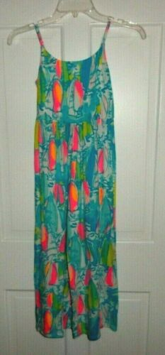 LILLY PULITZER MULTI BEACH AND BAE JUMPSUIT M (6-7) GIRLS