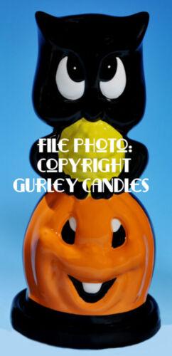 "Gurley ""Saf-T-Glo""  Candle Lamp - Owl On Jack O"