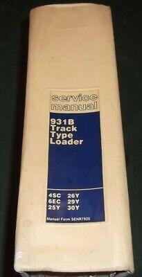 Cat Caterpillar 931b Track Loader Service Shop Repair Manual 4sc 6ec 25y 26y 29y