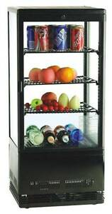 98L DRINK/CAKE 4 SIDES DIAMOND GLASS DISPLAY FRIDGE COOLER +2 LED Dandenong South Greater Dandenong Preview